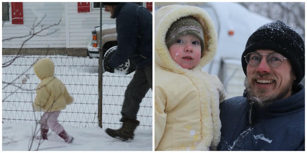 Leelu loves the snow.