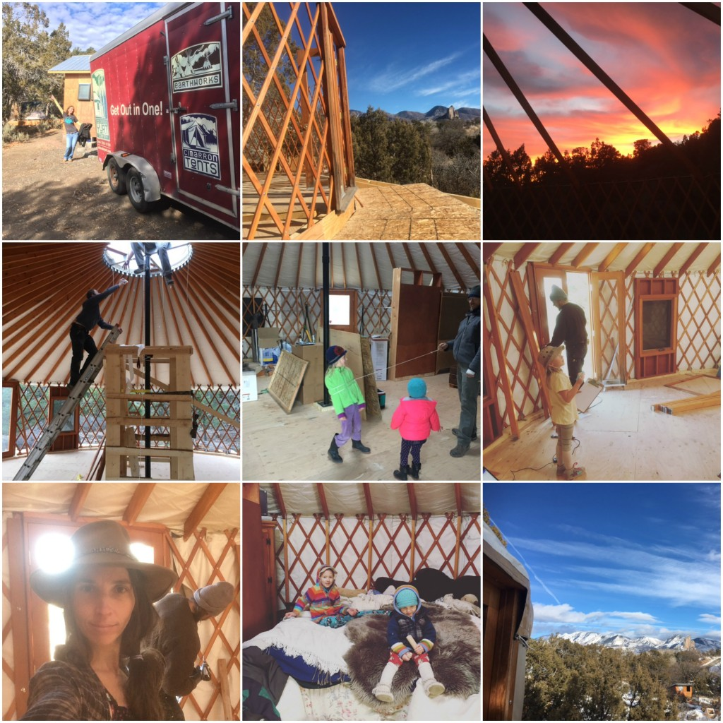 yurt grid Collage